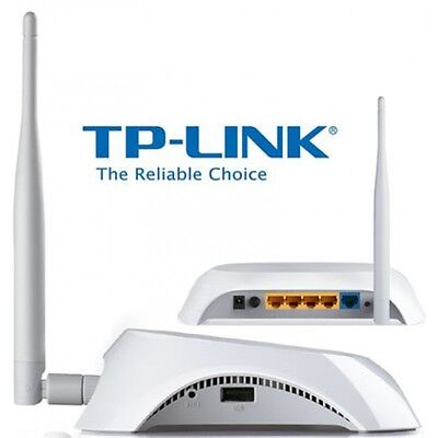 TP-Link TL-MR3220 150Mbps 10/100 WiFi Wireless Router 3G/4G LTE USB
