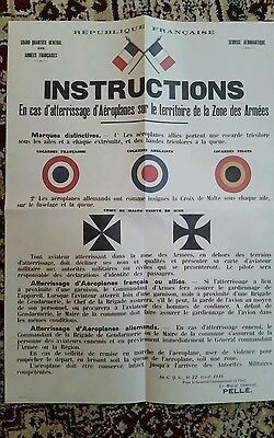 Copy of WW1 Somme Poster from 22/4/1916 Roundel designs and how to deal airmen