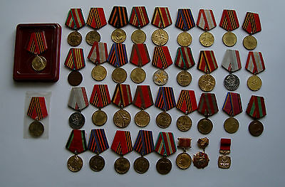 Lot 37 Various German Russia Ukraine Ussr Wwii Veteran & Army Service Medals