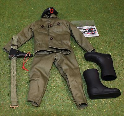 VINTAGE ACTION MAN 40th OUTFIT & BERET US FATIGUES FOR TALKING COMMANDER NO DOLL