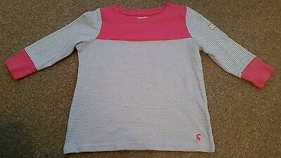 Joules Girls Striped 3/4 Sleeve Top Age 5-6 Years