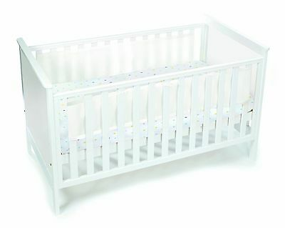 Breathable Baby airflow 2 sided mesh cot cotbed bumper - WHITE -NEW