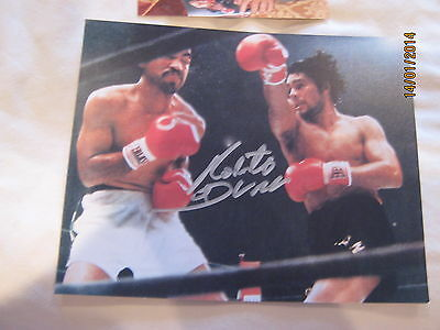 Roberto Duran Signed 10X8 Coa With Photo Proof