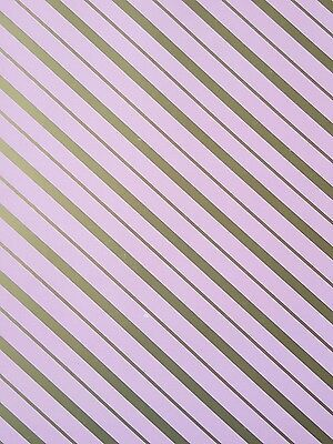 2 Sheets Of Thick Glossy Diagonal Stripes Wrapping Paper
