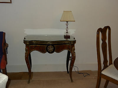 Stunning Antique French Boulle Card Table.