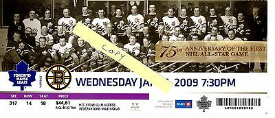 75th Anniversary of the 1st NHL All-Star Game - Commemorative 2009 Leafs Ticket.