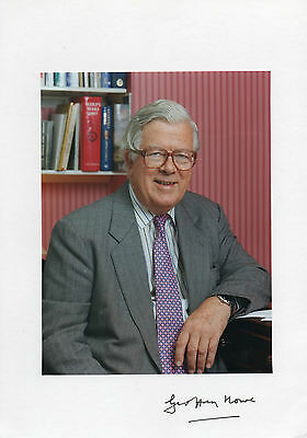 LORD GEOFFREY HOWE Deceased AUTOGRAPHED PHOTO POLITICS