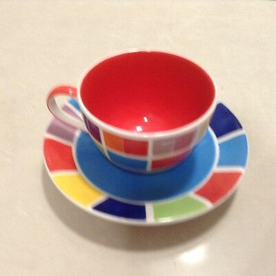 Whittard Handpainted Cup and Saucer