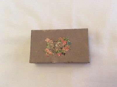 Vintage Empty Cardboard Box With Lacey Inside Lining