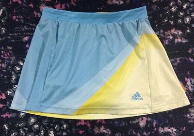 Adidas Adizero Girls Tennis Skirt With Attached Shorts Size 11-12 Years