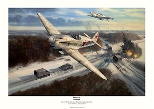 Enemy at the gates Yak Aviation Art signed Limited Edition Robert Taylor style