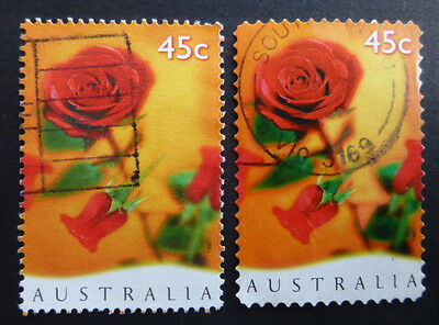 1997 - Valentines Day - Sheet Stamp (SG1665) and P&S Stamp (SG1666) - Used (#2)