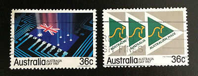 1987 - Australia Day - Set of 2 Sheet Stamps (SG1044 & 1045) - Used