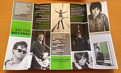 Johnny Marr - Promotional Fanzine/poster+Postcard - Set The Boy Free Book Launch