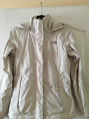 North Face Cream Waterproof Jacket Size XS