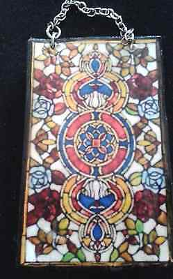 Dolls House  Victorian (Stain glass look) Window Panel