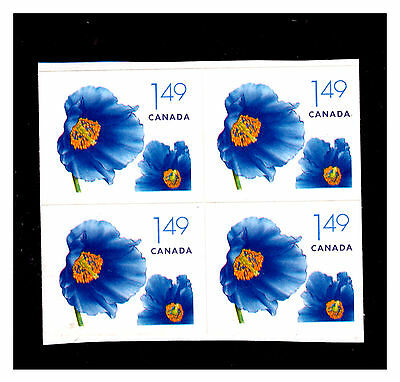 Canada Small Flower Self Adhesive Block Booklet Stamps. Mint.  #492