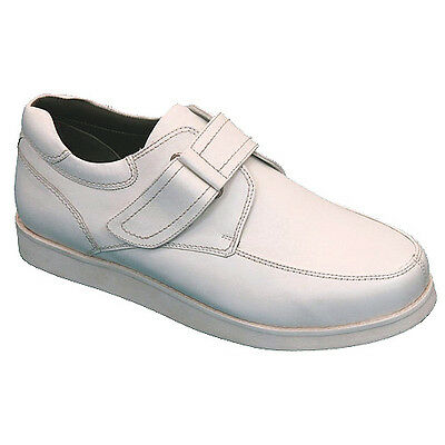"EMSMORN ""BERKELEY"" GENTS VELCRO BOWLS SHOES - WHITE, var. sizes.   FREE POSTAGE."