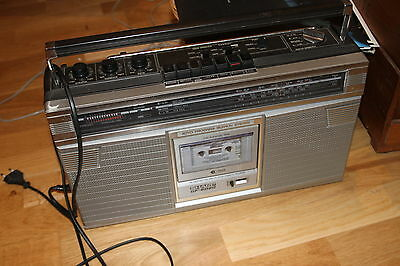 tape player radio Vintage sharp gf 6060 8585 style Ghetto Blaster Boombox radio