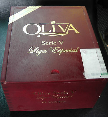 OLIVA SERIE V LIGA ESPECIAL CIGAR BOX-REAL WOOD - For craft,jewelry or stomp box