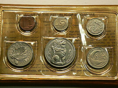 Singapore 1983, Year Of The Boar, 6 Unc Coin Set  #5375