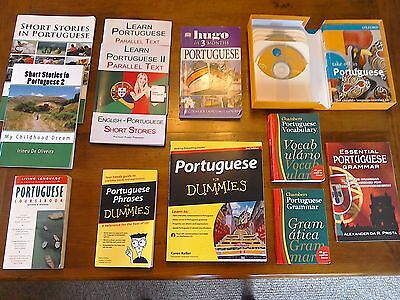 Portuguese Language Learning Books (12 in Total) and CDs