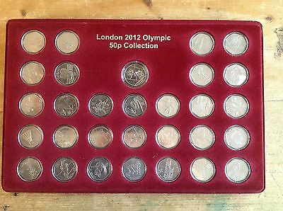 London 2012 Olympic 50p coin set Complete Collection (With medallion) with case