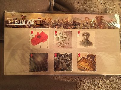 The Great War 1914 Royal Mail Mint Stamps