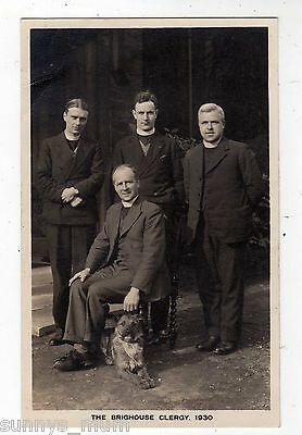 Yorkshire, Brighouse, The Clergy With Their Dog, 1930, Rp
