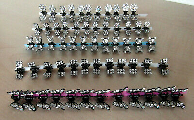 Crystal Diamante Mini Hair Clips Claws Butterfly Solar Floral Girls Kids Baby