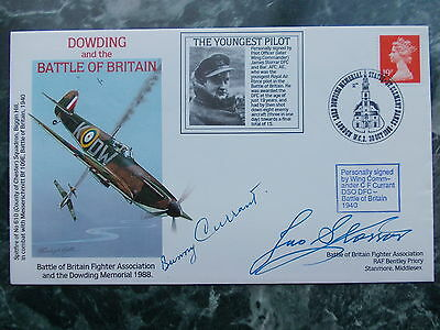 Wg Cdr Jas Storrar & Wg Cdr Bunny Currant Hand Signed  Battle Of Britain Cover