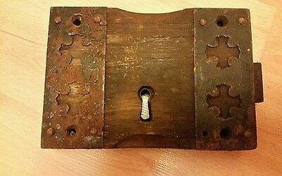 Rare Antique Maybe Medieval Lock . 7 x 5 x 1 1/4 inches.