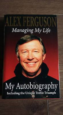 Authentic Sir Alex Ferguson Signed Manchester United H/b Real Signature...coa