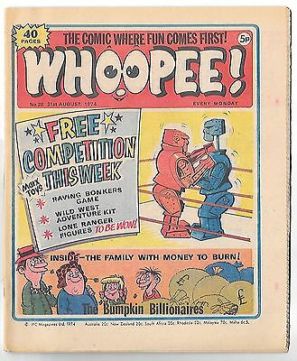 Whoopee! #26 (31st August 1974 high grade) Lone Ranger, Ghost Train
