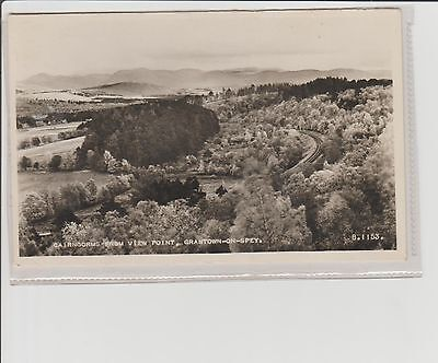 Grantown-on-Spey Cairngorms From View Point Real Photograph U/P c1930s Valentine