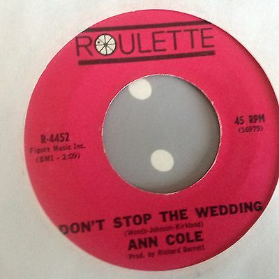 Ann Cole-Have Fun/don't Stop The Wedding-Roulette 4452. Ex