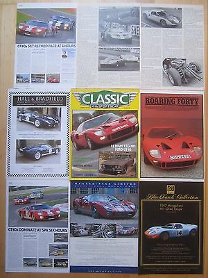 Ford GT40 Reports & Adverts, GT40 classic Racing Reports etc.