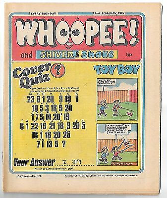Whoopee! 22nd Feb 1975 (high grade) Frankie Stein, Scream Inn, Spy School