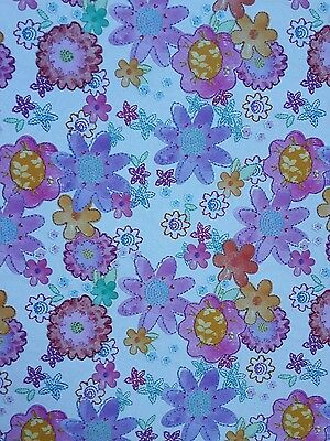 2 Sheets Of Thick Glossy Female Flower  Wrapping Paper