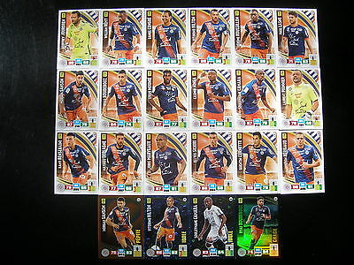 PANINI ADRENALYN XL FOOT 2016-2017 - MONTPELLIER EQUIPE  COMPLETE - 22 cartes