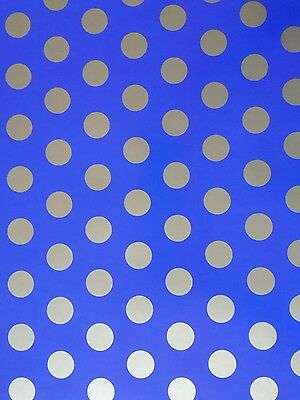 2 Sheets Of Thick Glossy Spotty Wrapping Paper