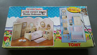 SYLVANIAN FAMILIES VINTAGE home sweet home master bedroom set MINT & BOXED