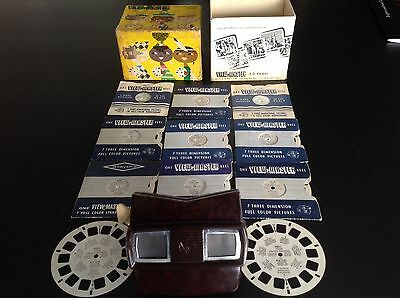 View-Master Three-Dimensional Viewer  Model E, With 11 Discs