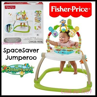 Fisher Price Rainforest Friends SpaceSaver Jumperoo Baby Bouncer Baby Activity