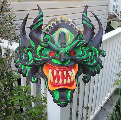 Colorful & Exotic Large Hanging Paper Mache Mask Wall Decor