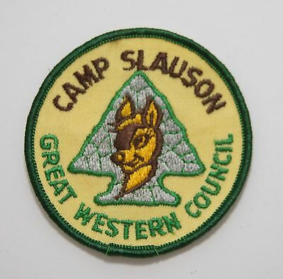 BSA / Boy Scouts of America - Vintage 1980's Camp Slauson Patch - Great Western
