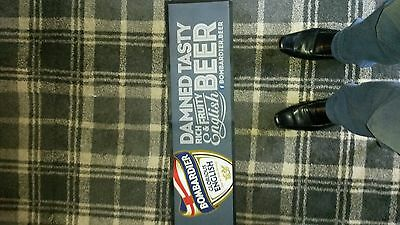 Bombardier 'damned tasty rich and fruity English beer' bar runner (new)