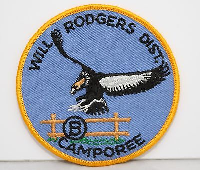 BSA / Boy Scouts of America - Vintage 1970 Will Rogers District Camporee Patch