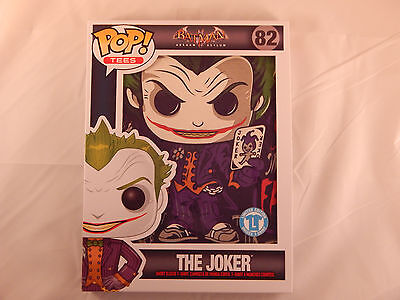 Funko POP! Tees T-Shirt The Joker Sideshow #82 DC Comics Large L Free Shipping