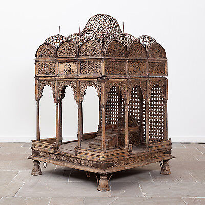 Rare Antique Indian Hindu Miniature Temple from Rajasthan. 18th/19th Century.